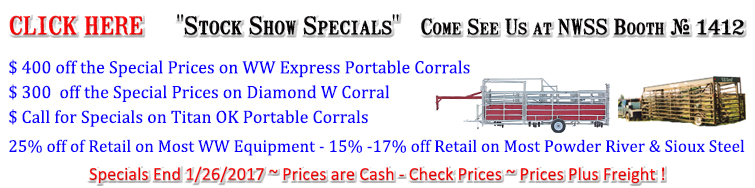 Click Here for Stock Show Specials