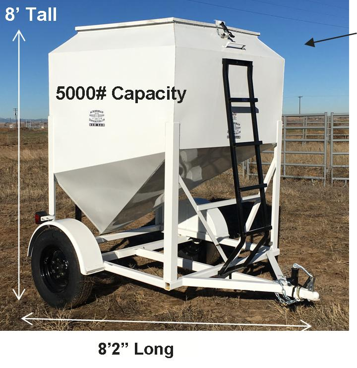 Portable Feed Storage Bins : Portable grain bins on wheels for storage pellet