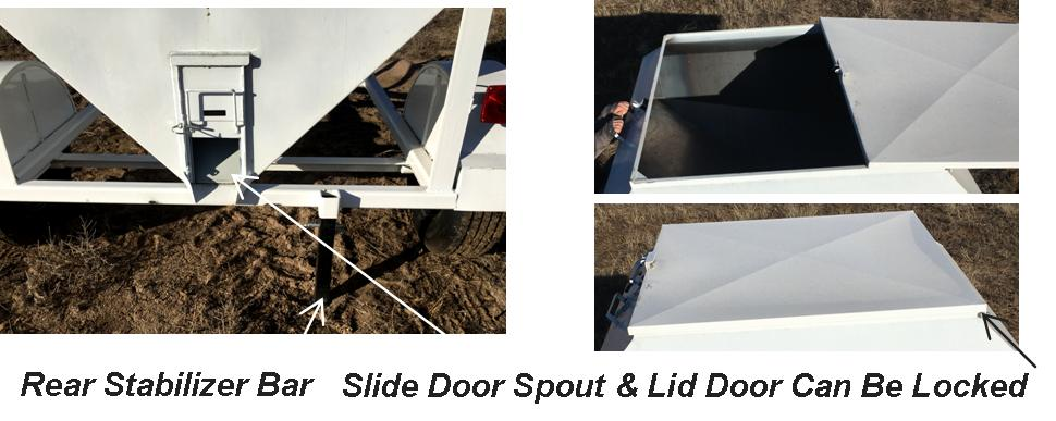 Portable Grain Bin, Corn Stove, Dog Food, Livestock Feed