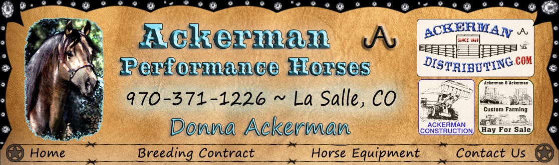 Ackerman Distribuitng, Construction, Custom Farming, & Performance Horses