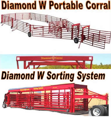 Portable Cattle Corrals Portable Chutes Alleys Tubs