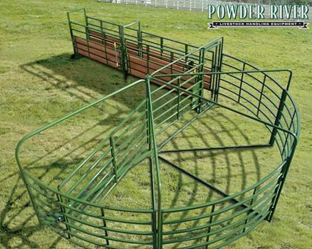 Powder River Cattle Working Systems Alleys Tubs